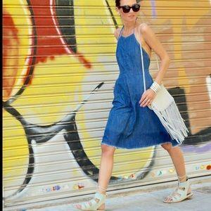 Zara | Halter denim dress